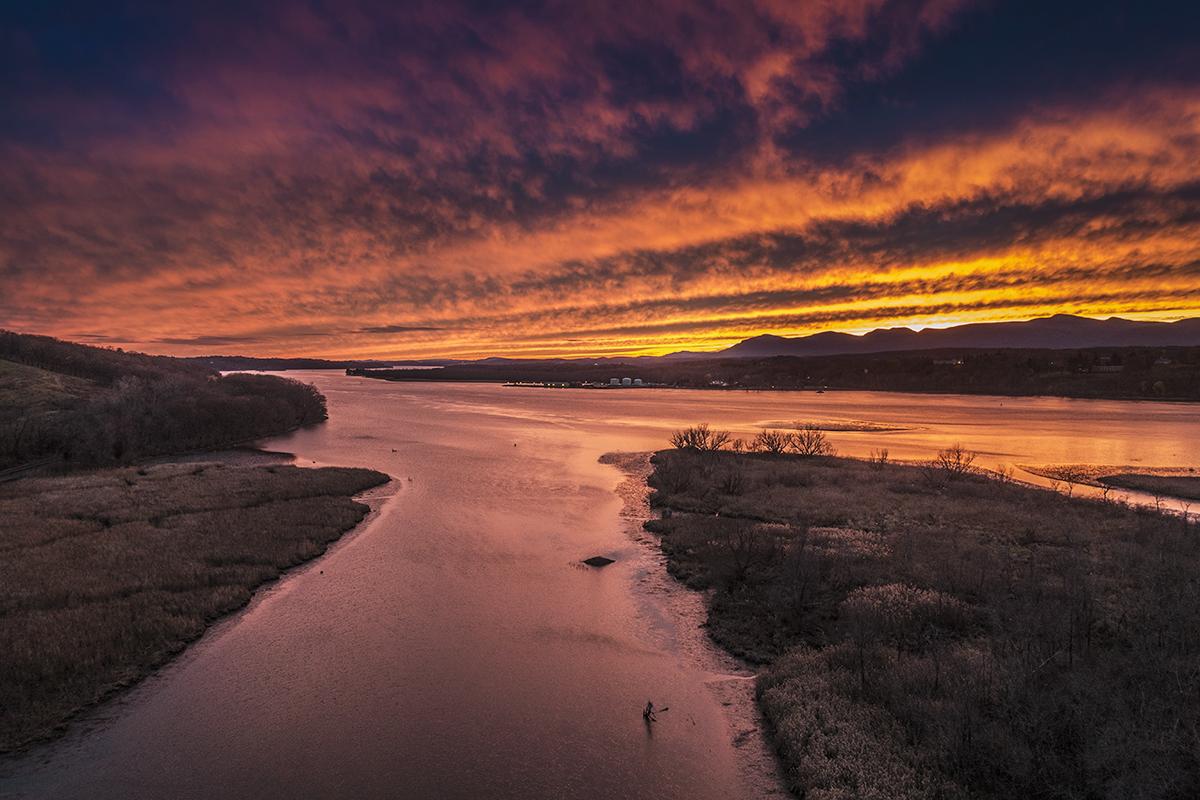 Sunset from the Rip Van Winkle Bridge