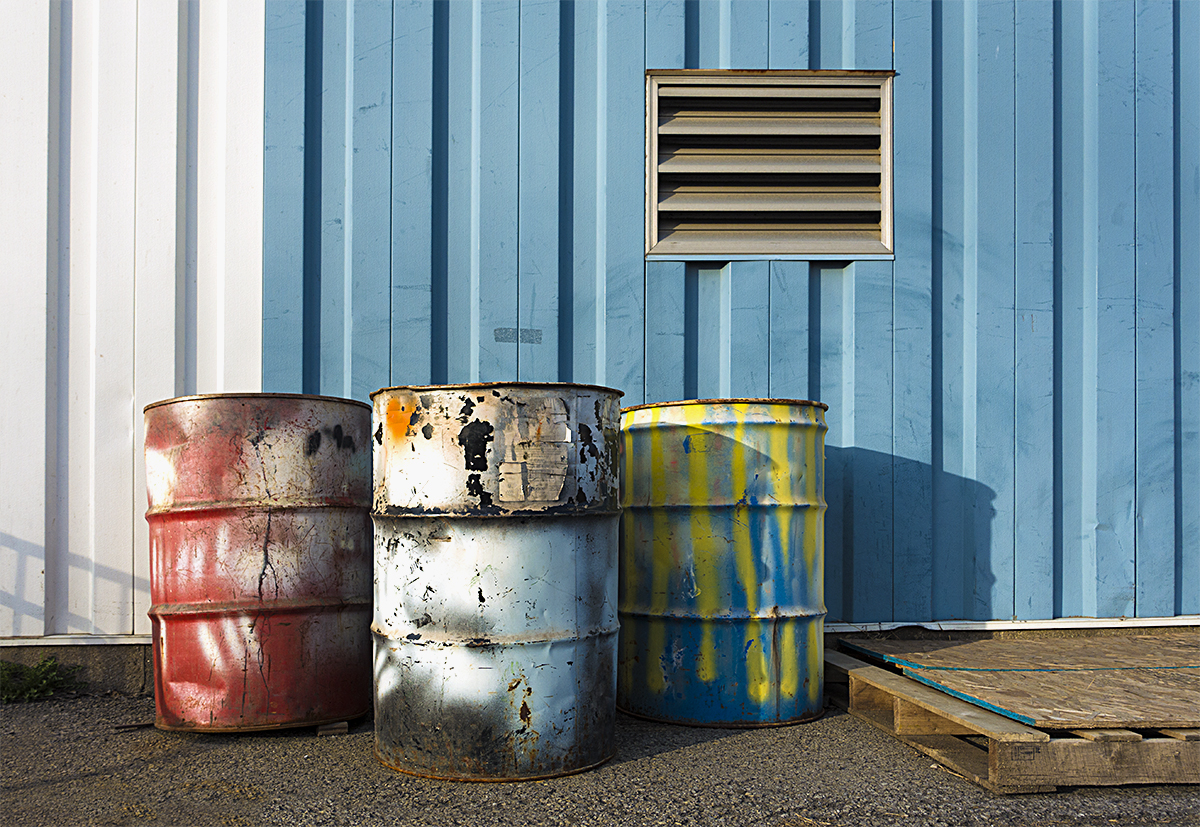 Paint on Industrial Drums